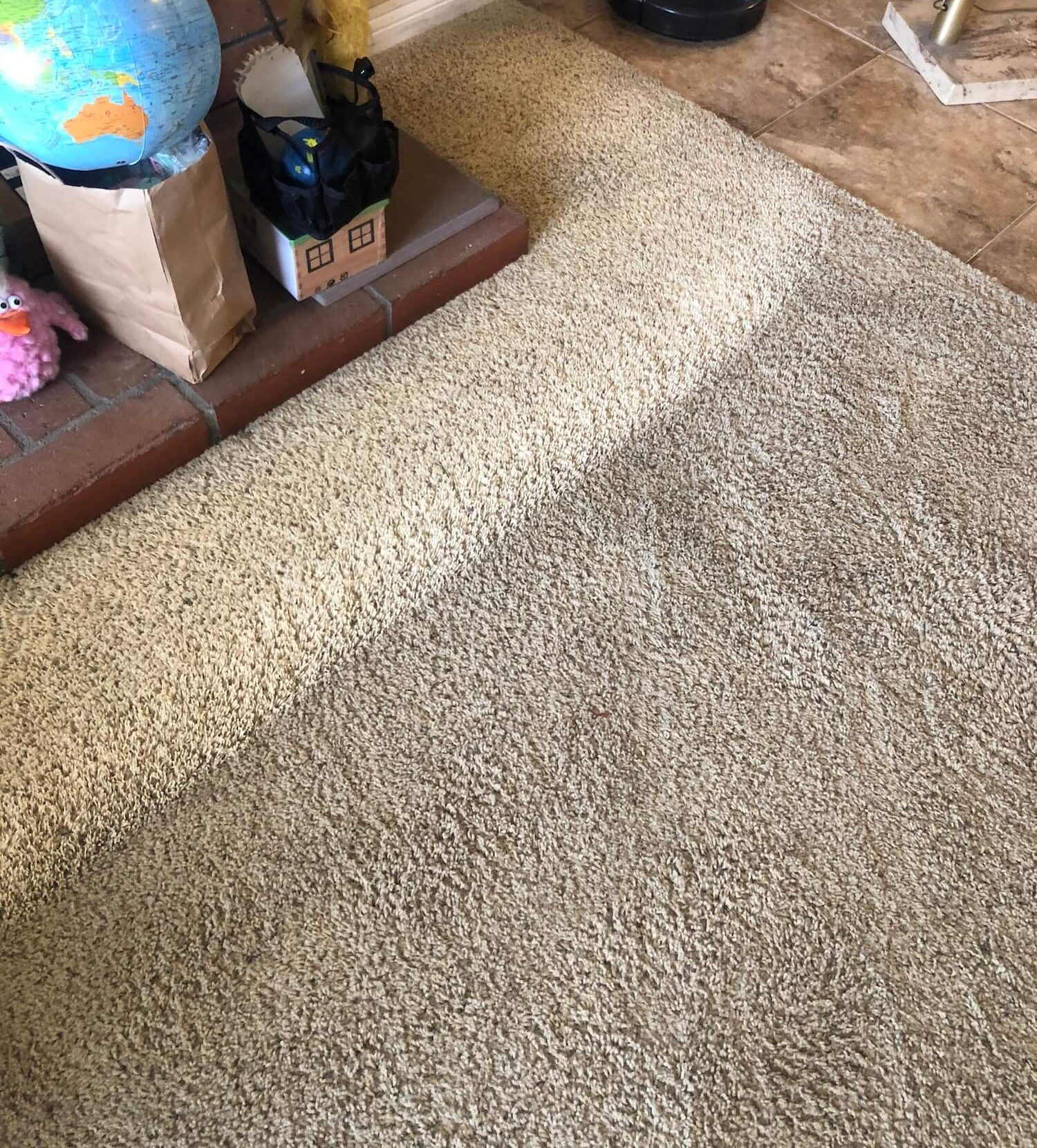 before and after Carpet Cleaning in La Verne CA
